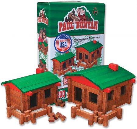 Photo of Paul Bunyan 200-pc Log Cabin Building Set