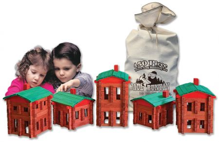 Photo of 450 pc. Paul Bunyan Deluxe Building Set, Made in the USA